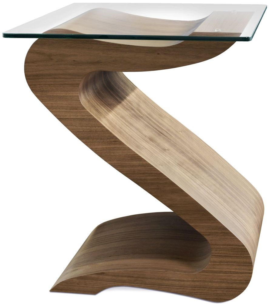 Tom Schneider Serpent Glass Top Lamp Table