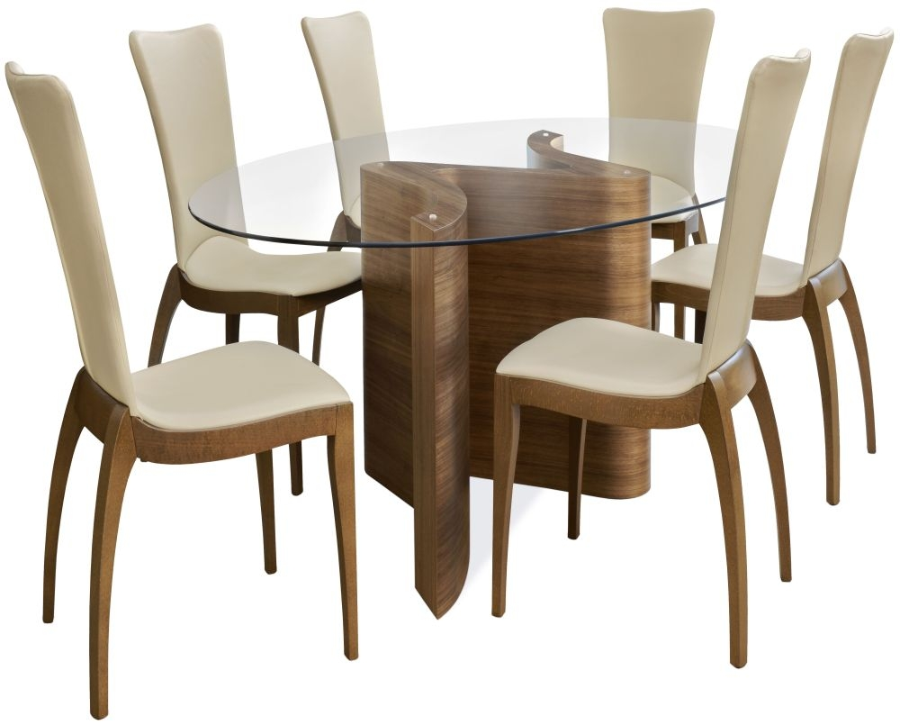 Tom Schneider Serpent Oval Small Dining Set with 6 Sasha Chairs