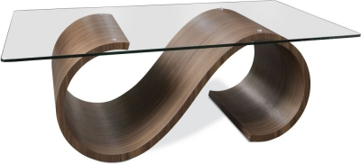 Tom Schneider Swirl Glass Top Coffee Table