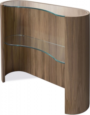 Tom Schneider Swirl Glass Top Console Table