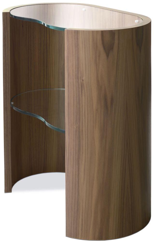 Tom Schneider Swirl Glass Top Lamp Table