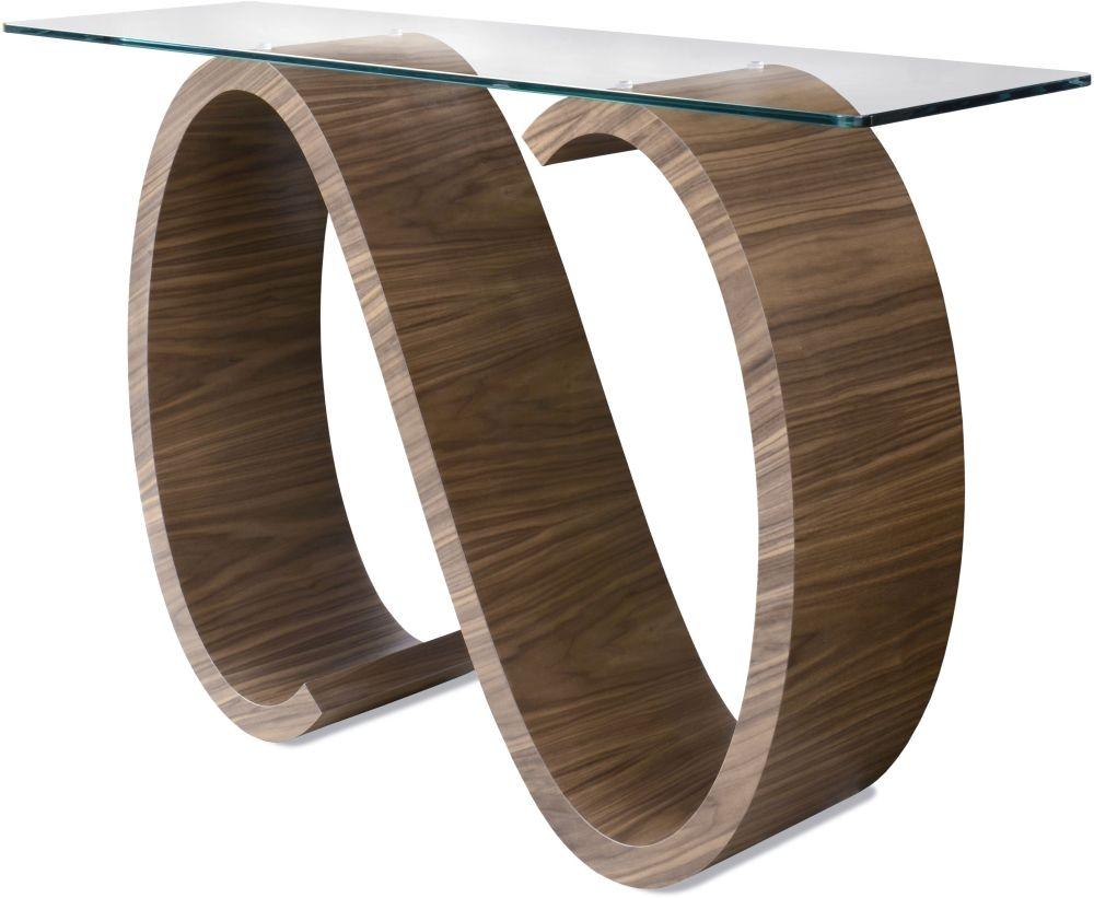 Tom Schneider Swirl Glass Top Side Table