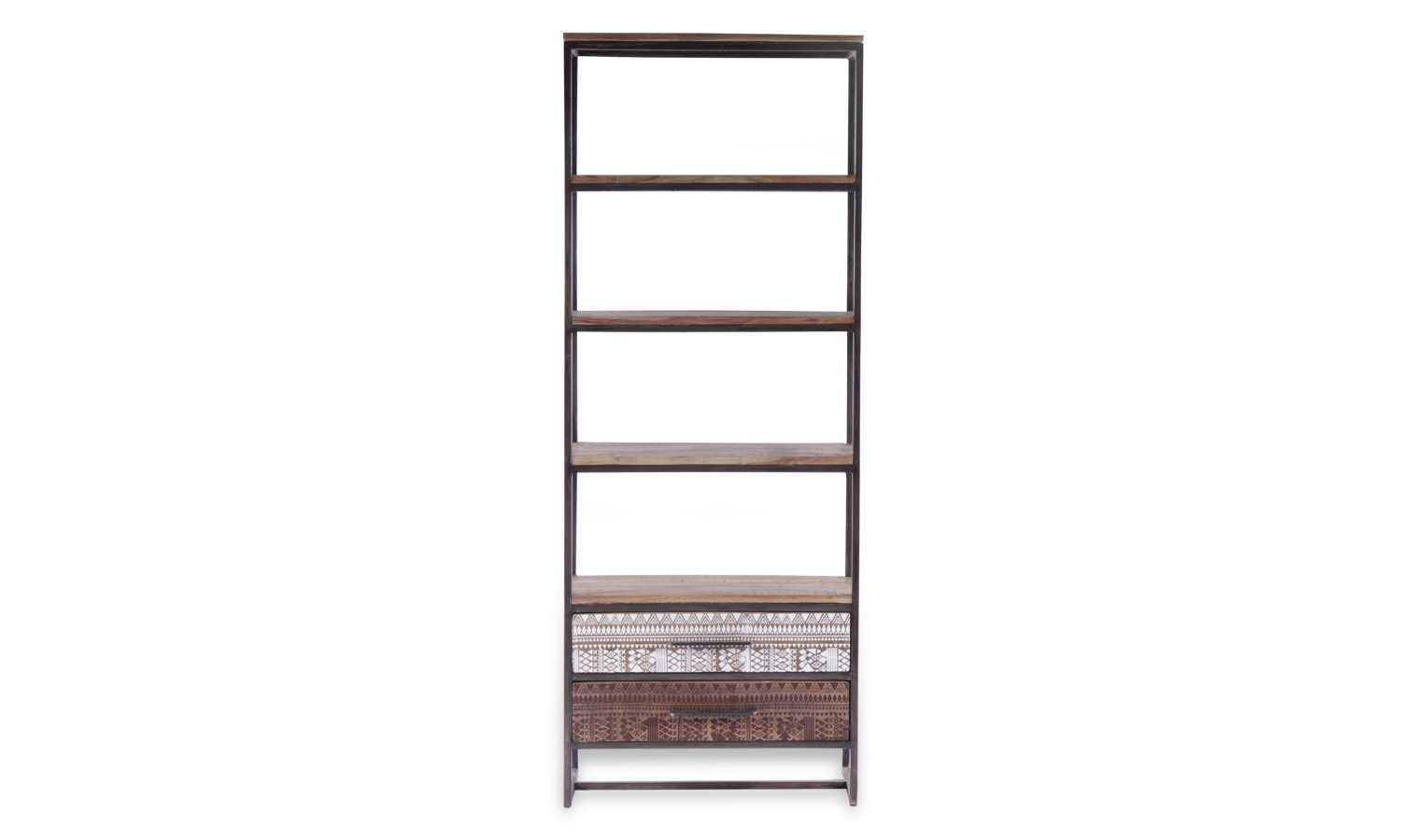 Century Industrial Printed 2 Drawer Bookcase