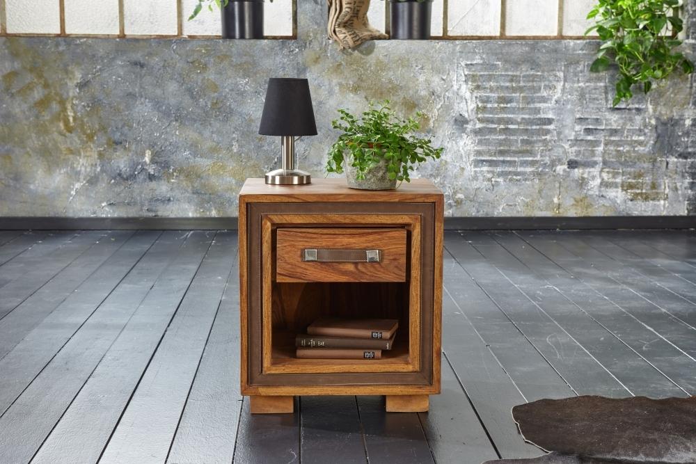 GRANDE Sheesham Wood 1 Drawer Lamp Table