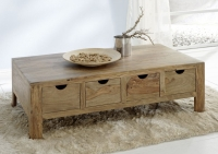 Guru Sheesham 4 Drawer Coffee Table