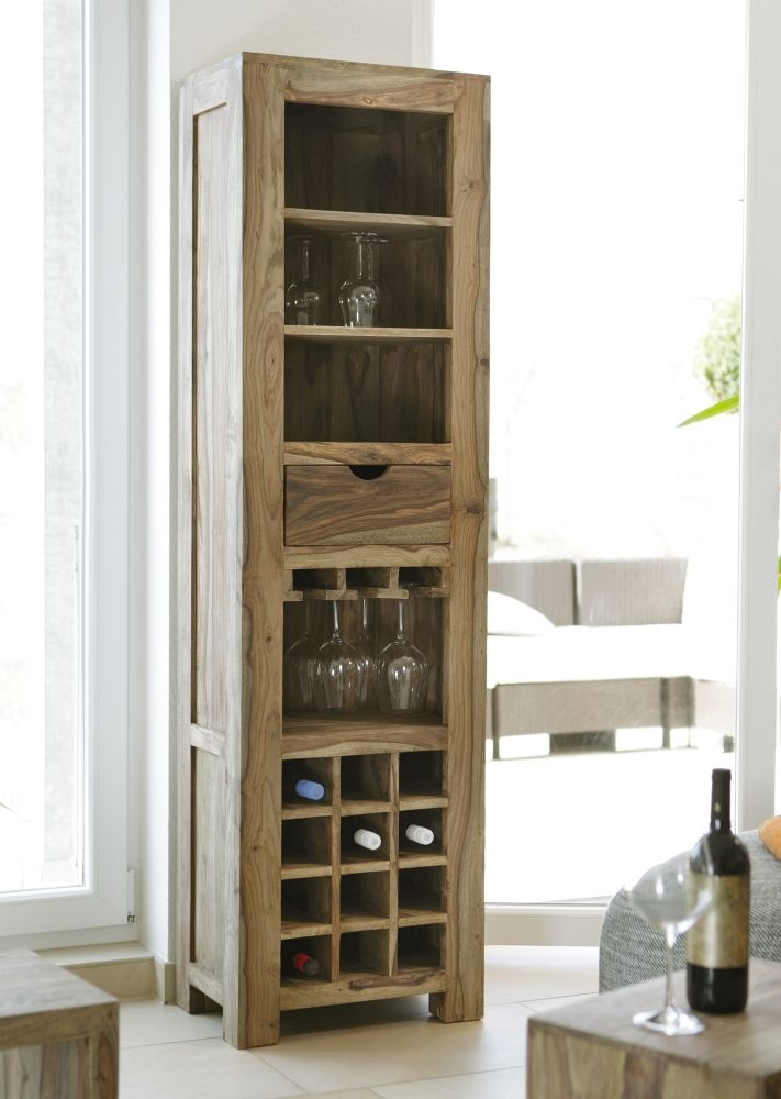 Guru Sheesham 1 Drawer Wine Rack