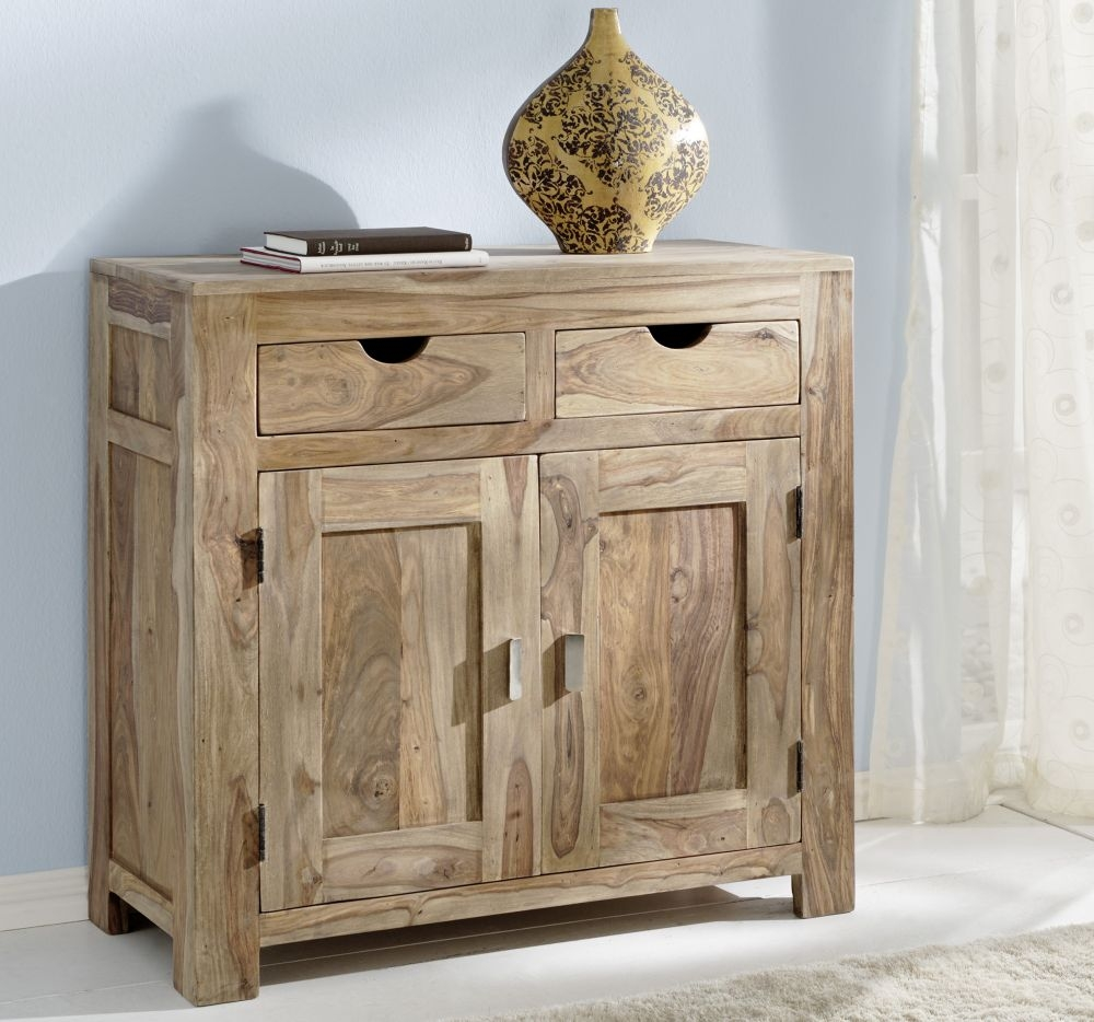 Guru Sheesham 2 Door 2 Drawer Narrow Sideboard