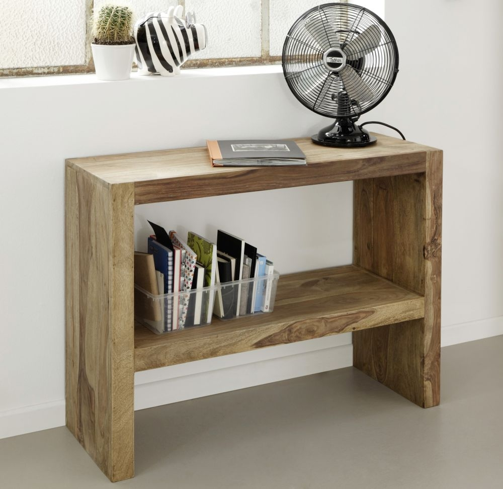Guru Sheesham Console Table with Shelf