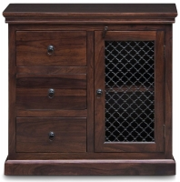 Iron Jali Sheesham 1 Door 3 Drawer Hallway Sideboard