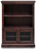 Iron Jali Sheesham 2 Door Storage Bookcase