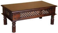 Jali Sheesham Wood Coffee Table
