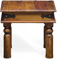 Jali Sheesham Wood Lamp Table - W 50cm