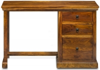 Wood Jali Sheesham 3 Drawer Single Pedestal Desk