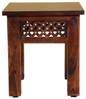 Wood Jali Sheesham Lamp Table