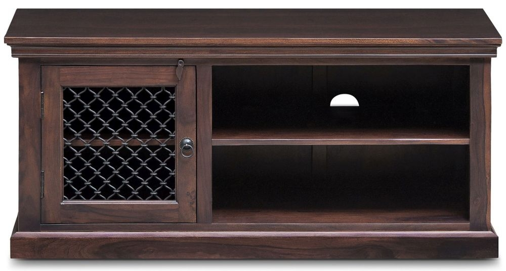 Iron Jali Sheesham 1 Door TV Unit