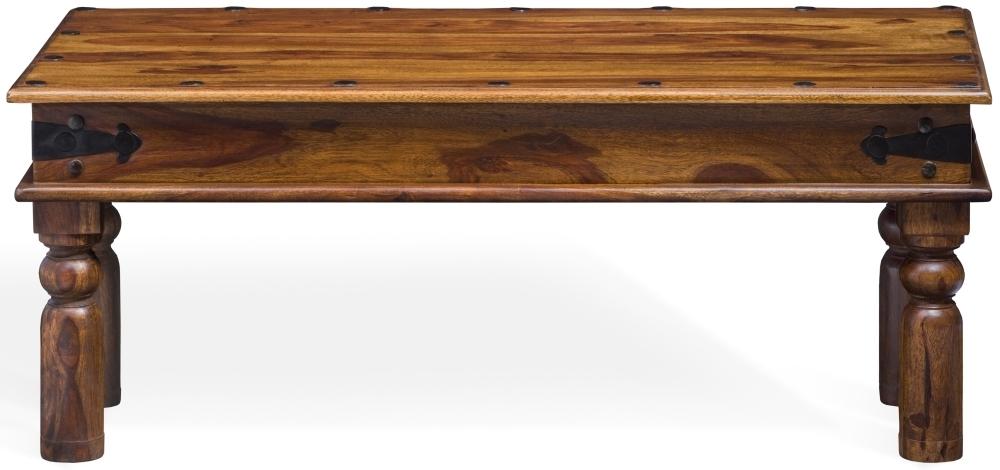 Jali Sheesham Wood Coffee Table - W 115cm
