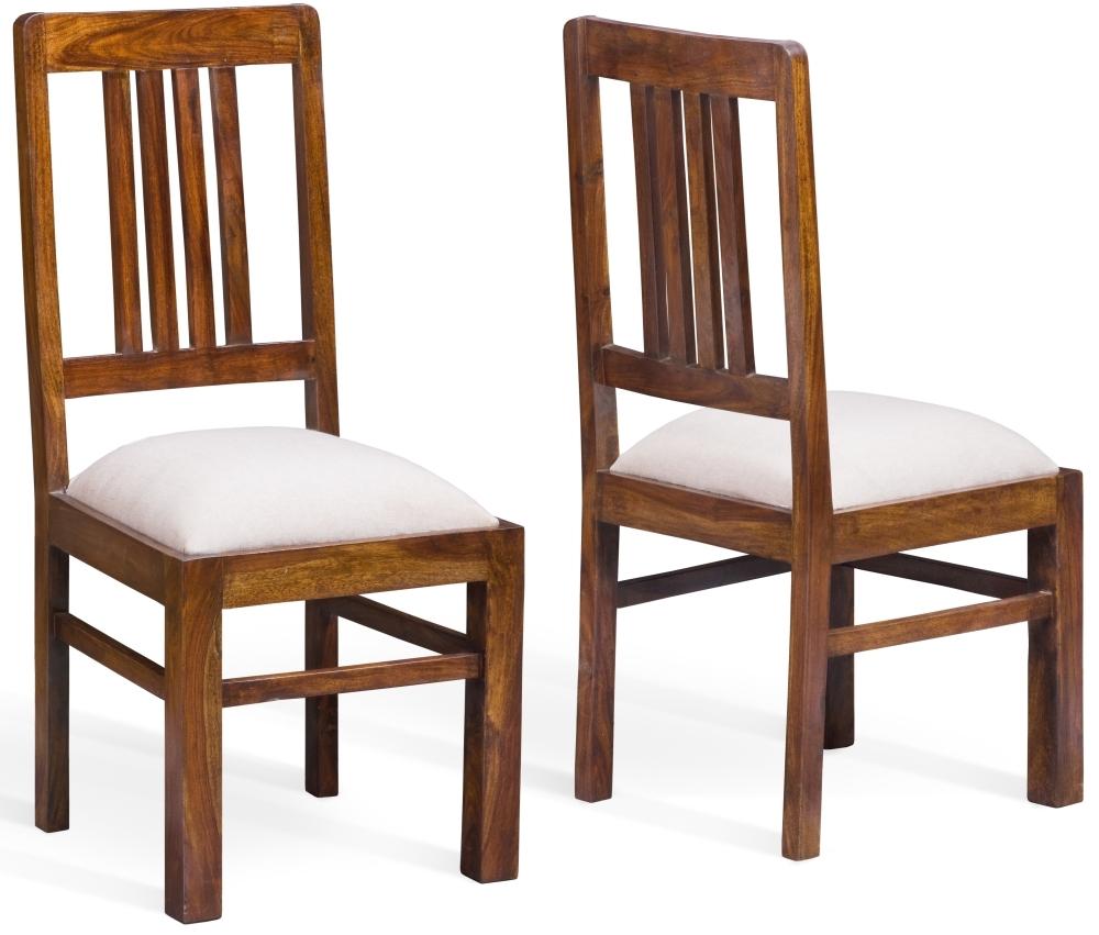 Jali Sheesham Wood Dining Chair (Pair)