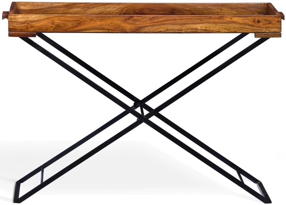 Jali Sheesham Wood Large Butler Tray