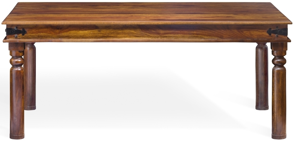 Wood Jali Sheesham Rectangular Dining Table - 180cm