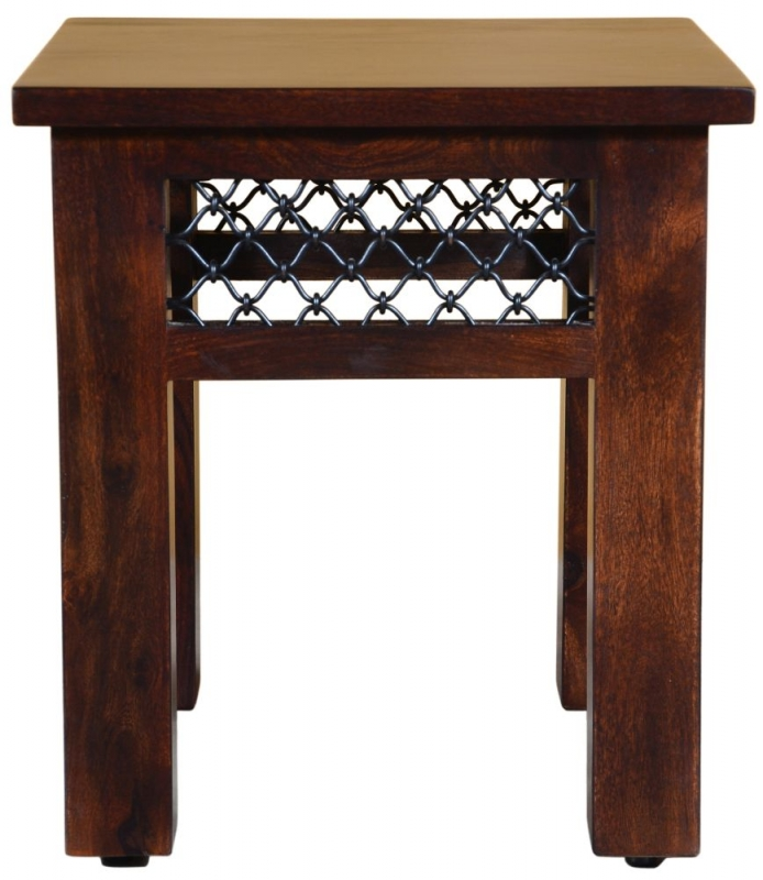 Iron Jali Sheesham Lamp Table