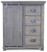Urban Deco Shabby Chic Dark Distressed Tall Hallway Sideboard