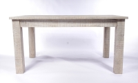 Urban Deco Shabby Chic White Washed Distressed Rectangular Dining Table - 180cm
