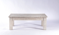 Urban Deco Shabby Chic White Washed Distressed Small Coffee Table