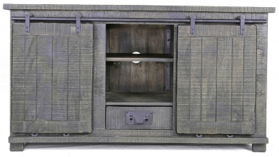 Urban Deco Shabby Chic Dark Distressed Large TV Unit