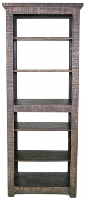 Urban Deco Shabby Chic Dark Distressed Tall Bookcase