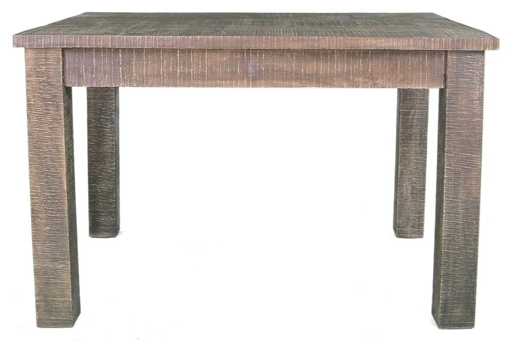 Urban Deco Shabby Chic Dark Distressed Rectangular Dining Table - 120cm