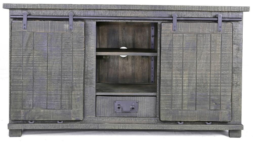Urban Deco Shabby Chic Dark Distressed Large TV Unit
