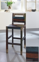 URBAN Vintage Shabby Chic Bar Chair with Backrest