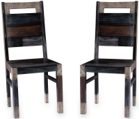 URBAN Vintage Shabby Chic Wooden Dining Chair (Pair)