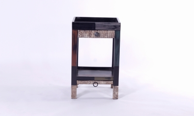 URBAN Vintage Shabby Chic 2 Drawer Telephone Table with Shelf