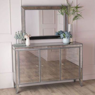 Urban Deco Alhambra Aged Mirrored Large Sideboard