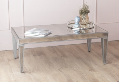 Urban Deco Alhambra Aged Mirrored Coffee Table