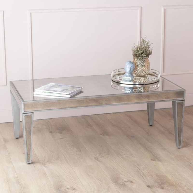 Urban Deco Alhambra Antiqued Mirrored Coffee Table