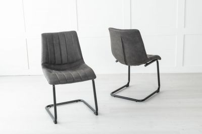 Angles Metal Black Dining Chair