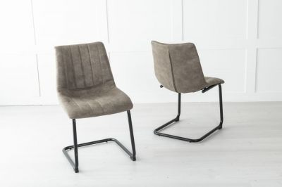 Angles Metal Chocolate Brown Dining Chair