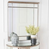 Urban Deco Antoinette Rectangular Wall Mirror - 80cm x 100cm