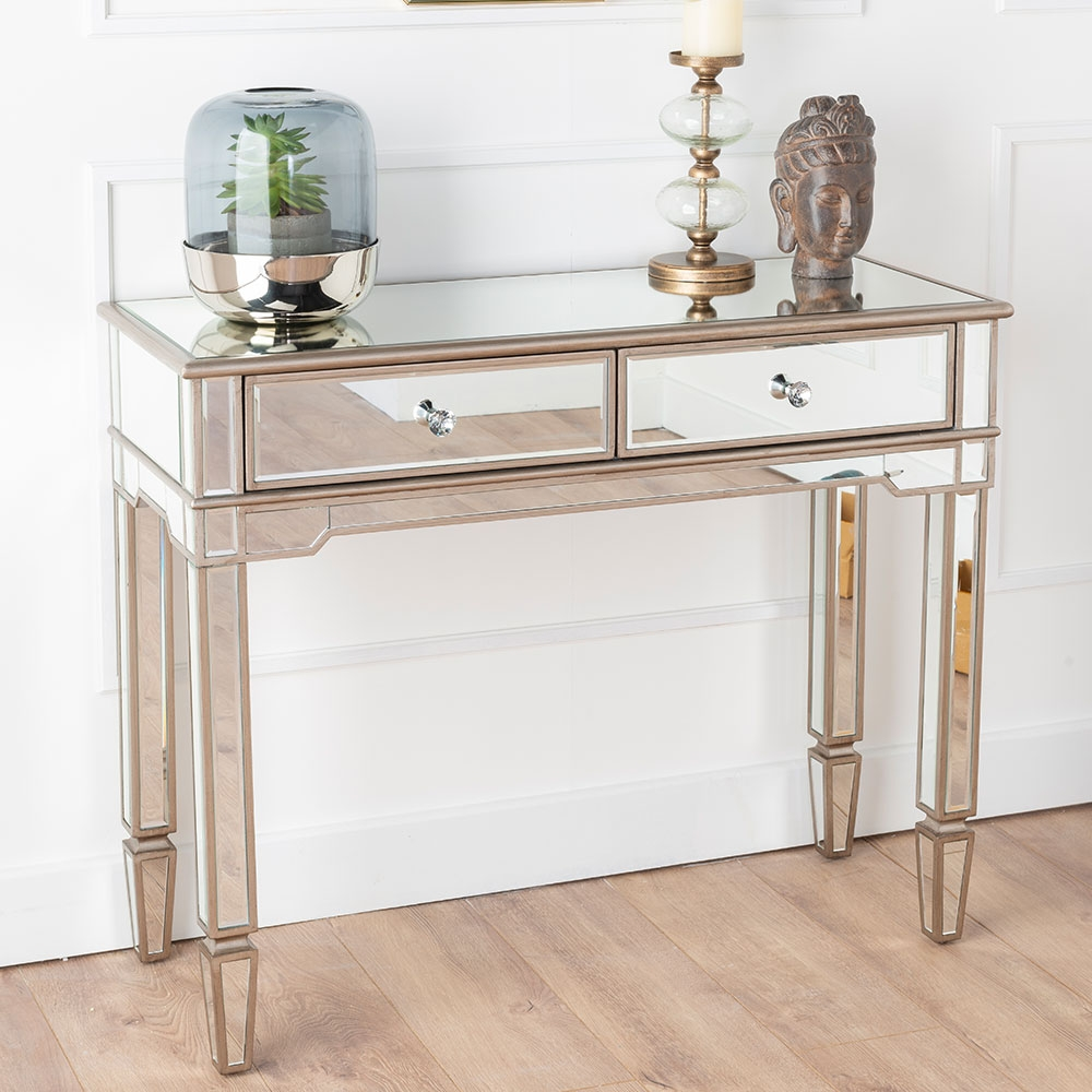 Product photograph showing Urban Deco Antoinette Mirrored Console Table