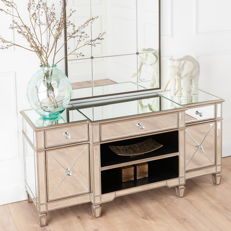 Urban Deco Antoinette Mirrored TV Unit
