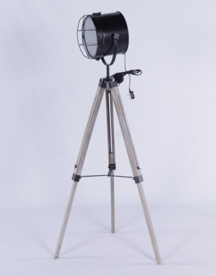 Urban Deco Decorative Black Metal Tripod Light