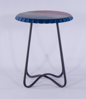 Urban Deco Metal Pepsi Printed Large Side Table