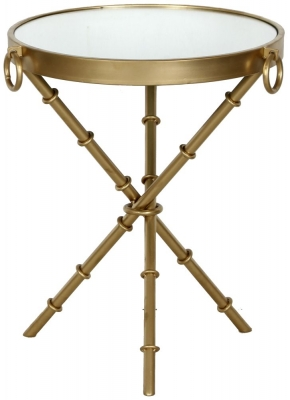 Bari Round Gold Side Table