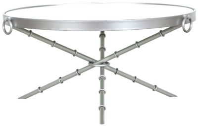 Bari Round Silver Coffee Table