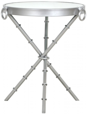 Bari Round Silver Side Table