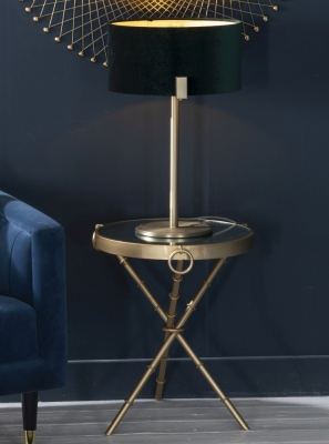 Bari Gold Round Side Table