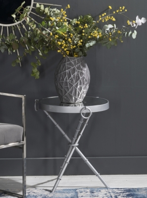 Bari Silver Round Side Table