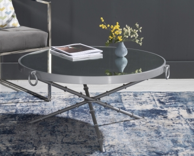 Bari Silver Round Coffee Table